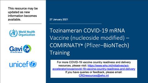 Comirnaty Pfizer Biontech Training Tozinameran Covid 19 Mrnavaccine Nucleoside Modified