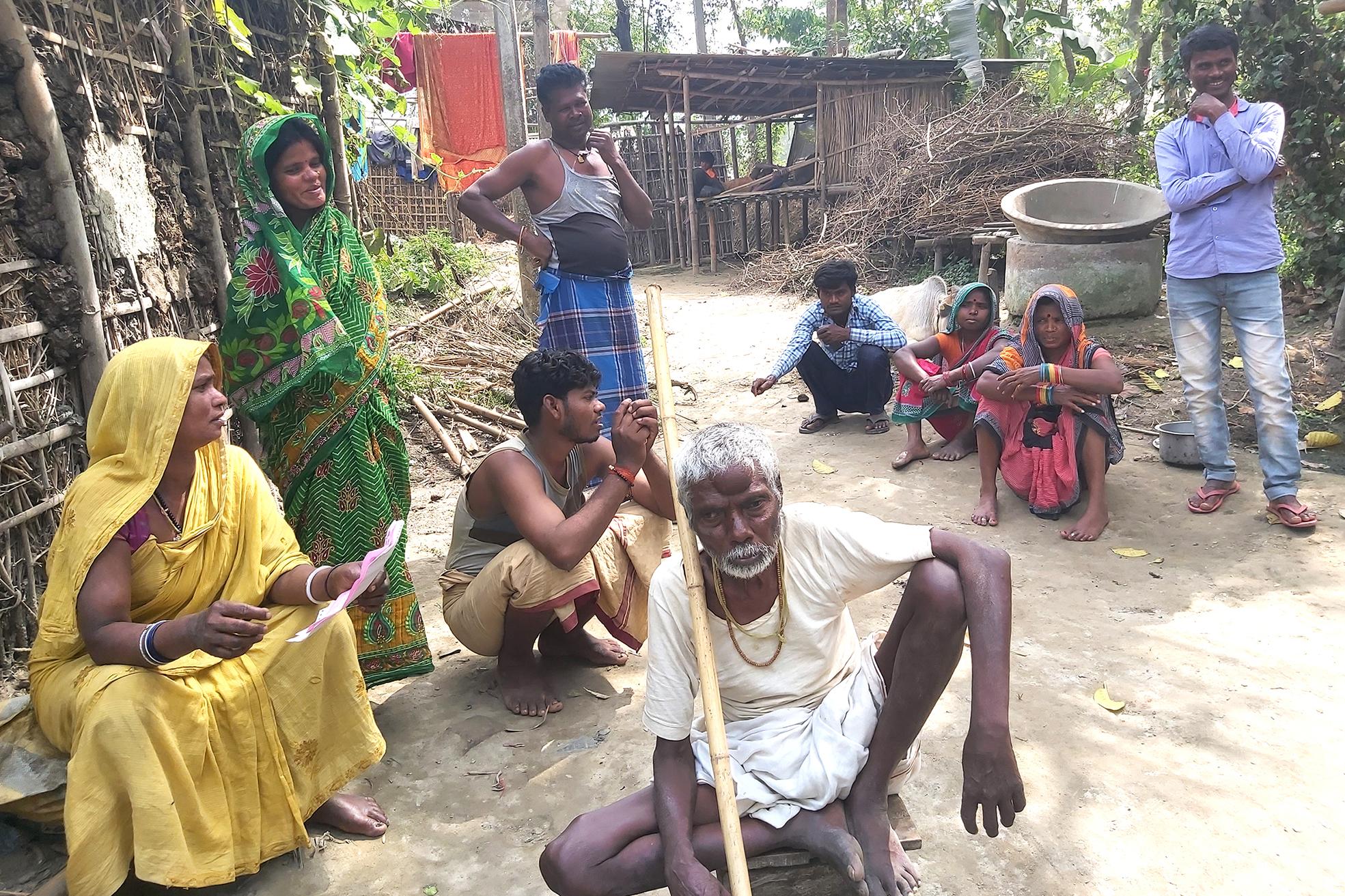 A family with treated three kala-azar cases, including one for PKDL.