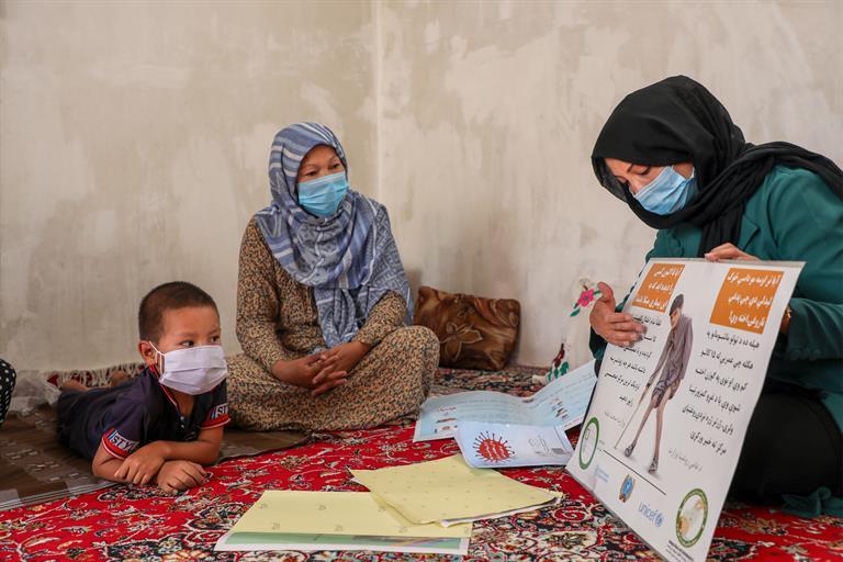 Nasrin Ahmadi, polio worker.