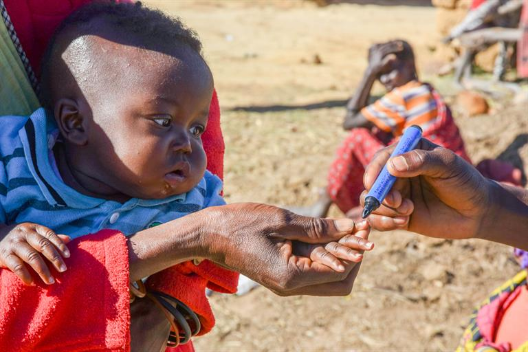 The polio vaccination campaign continues in July 2020 in Angola