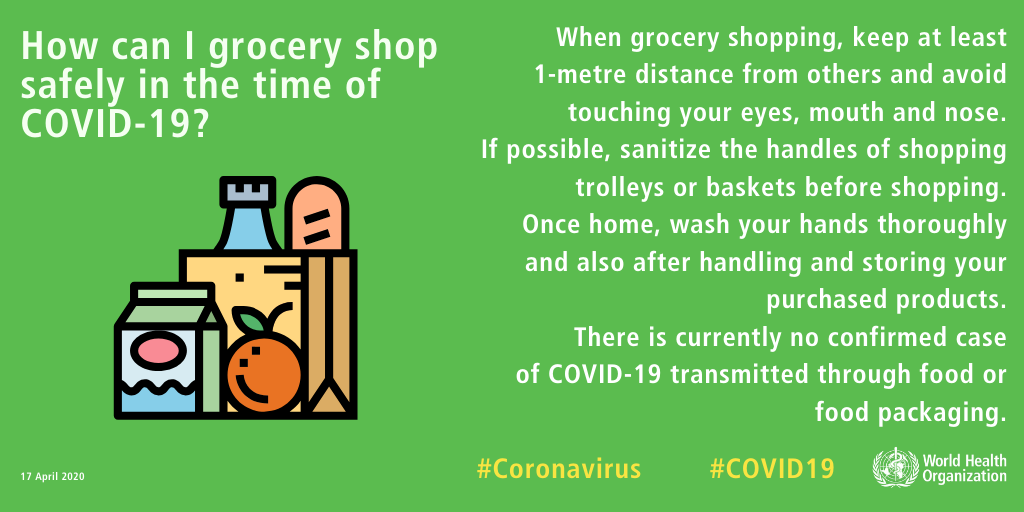 coronavirus tips for grocery store