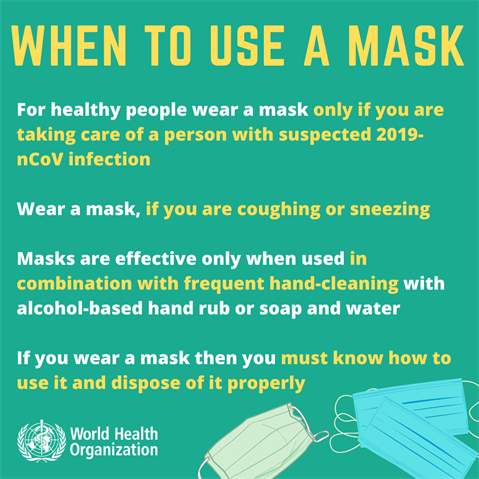 WHEN TO USE A COVID19 MEDICAL MASK