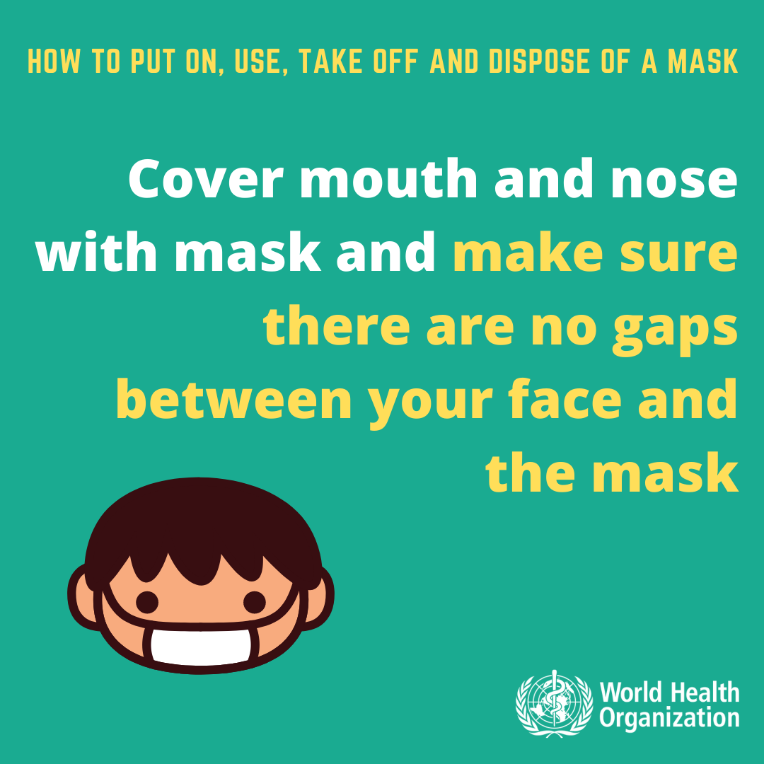 HOW TO PUT ON TAKE OFF AND DISPOSE OF A COVID19 MEDICAL MASK