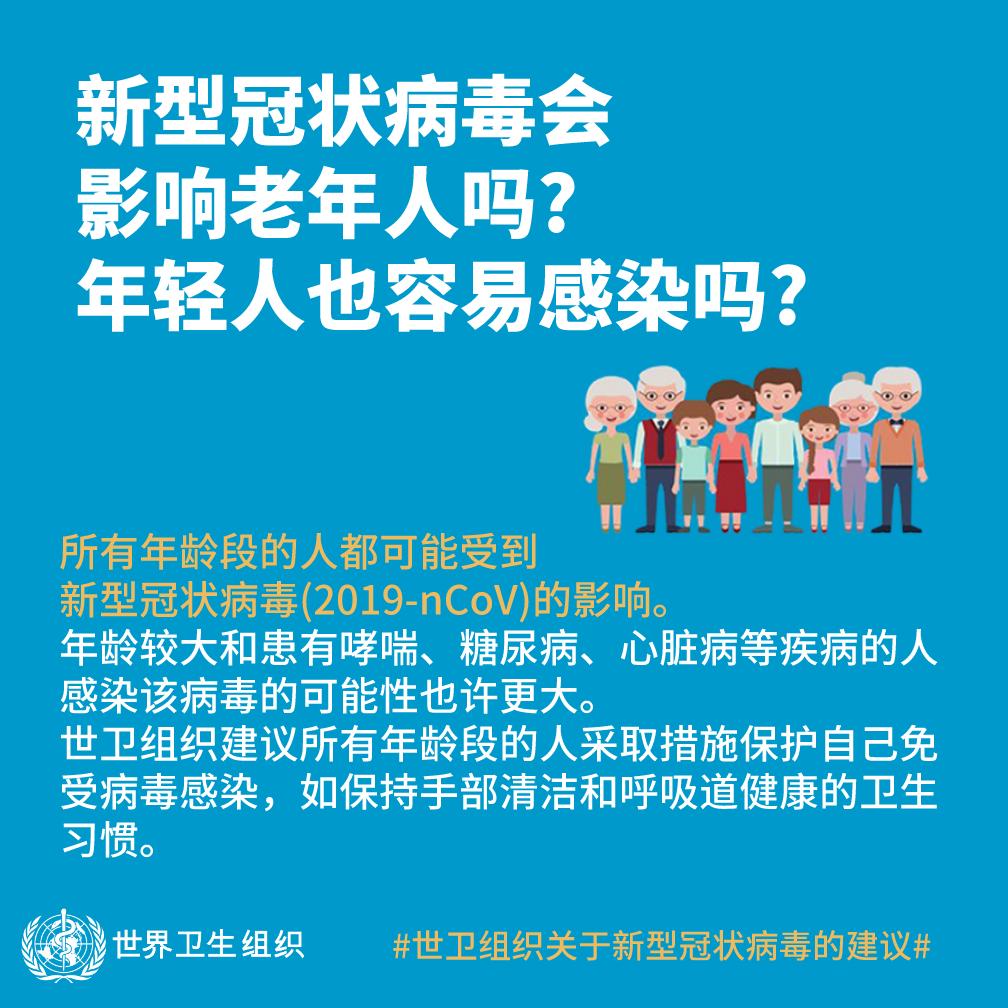 新型冠状病毒会影响老年人吗?年轻人也容易感染吗?