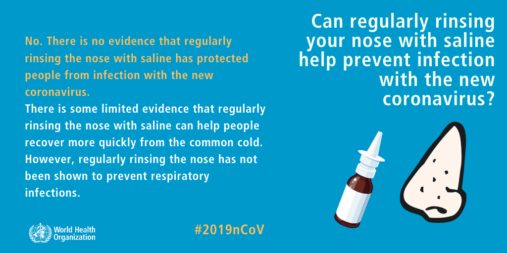 Can regularly rinsing your nose with saline help prevent infection with the new coronavirus?
