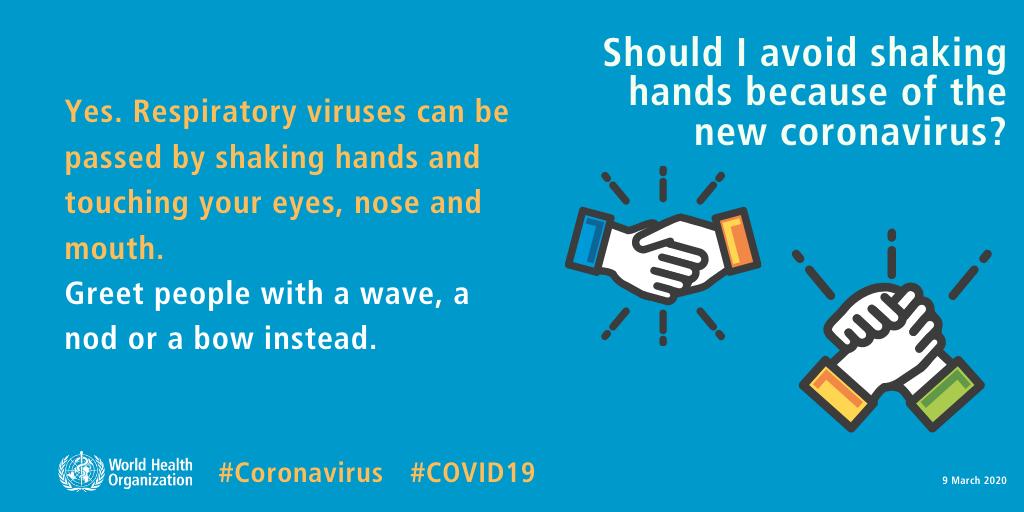 handshaking coronavirus