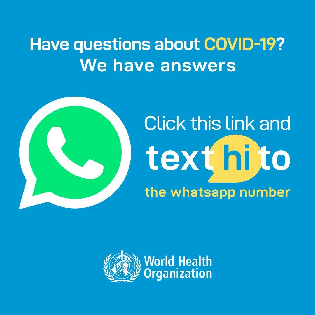 WHO Health Alert brings COVID-19 facts to billions via WhatsApp