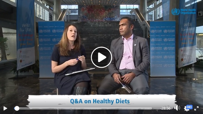 Facebook live healthy diets