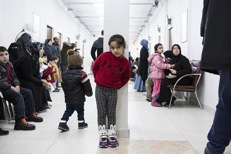 Hospital child refugees