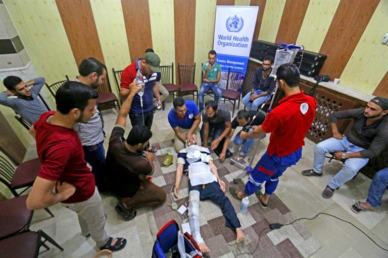 A trauma management training supported by WHO