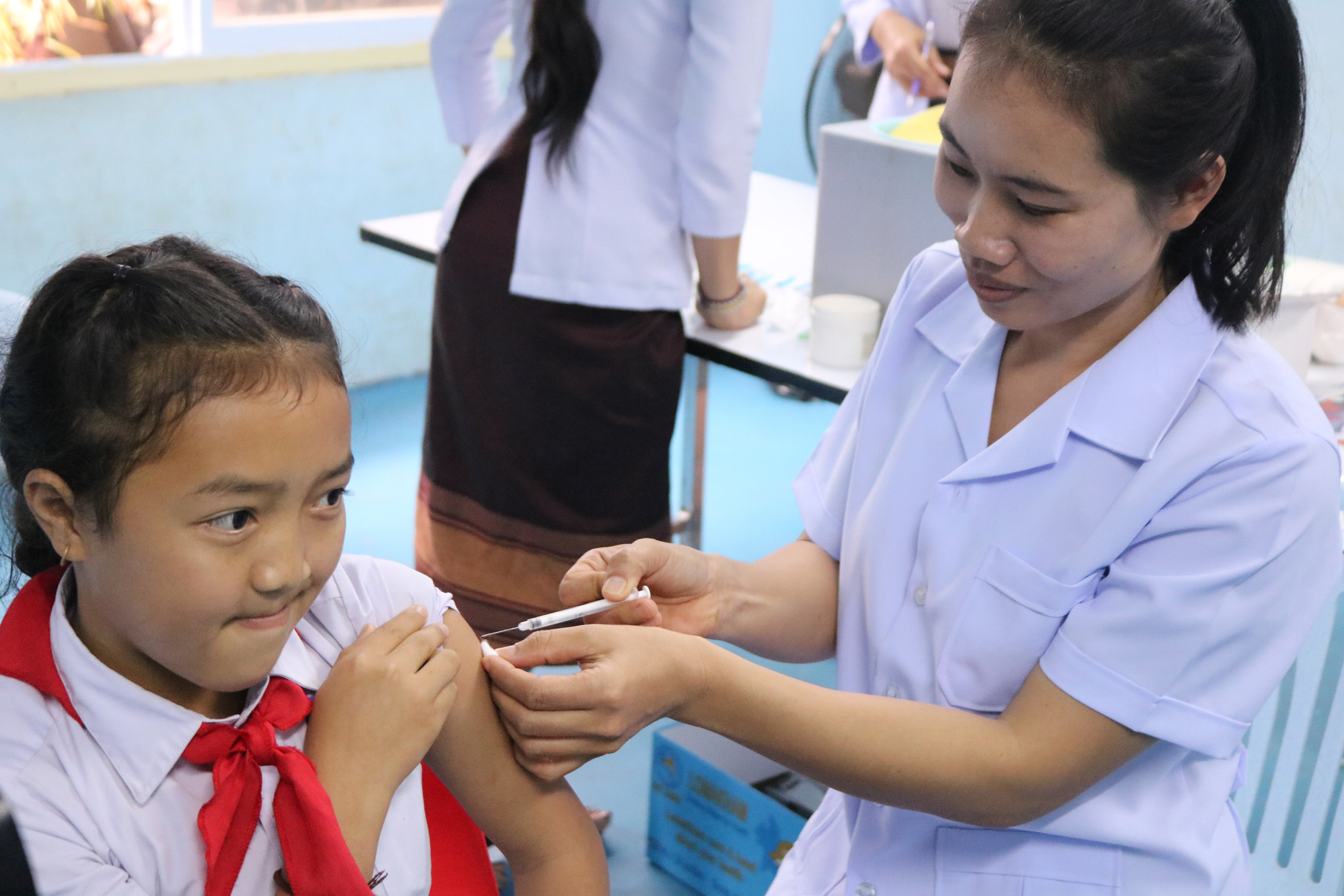 Lao Health System Continues To Offer Immunization Services Despite Covid 19 Pandemic