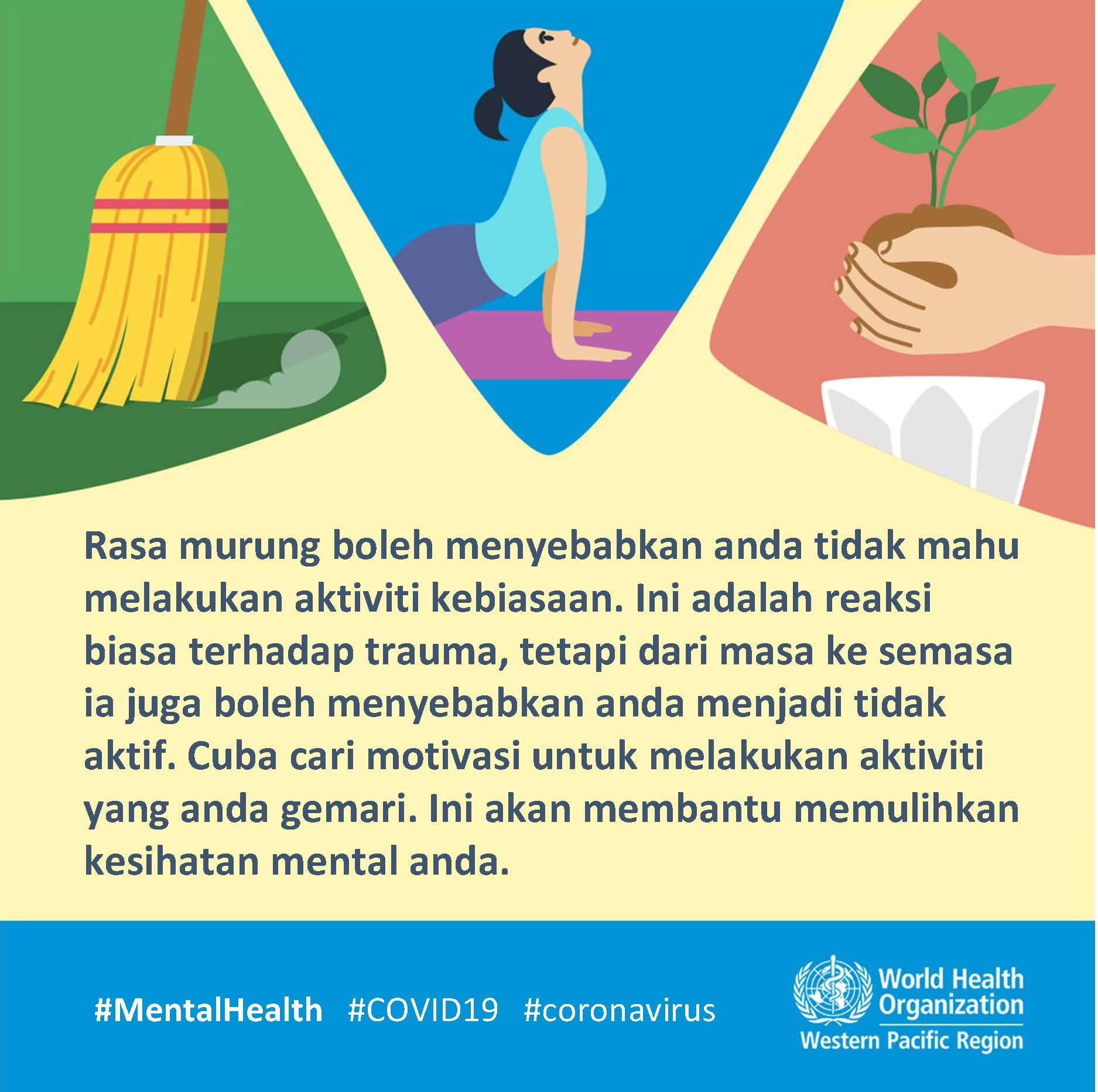 COVID-19 dan Kesihatan mental   WHO Malaysia