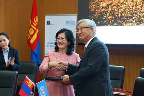 Good health for all Mongolians: the Government and the World