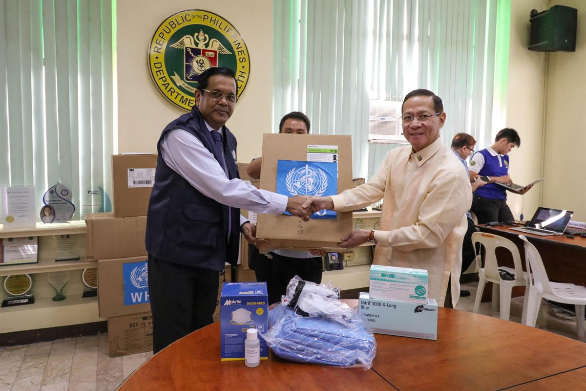 WHO supports the Philippine government in COVID-19 response