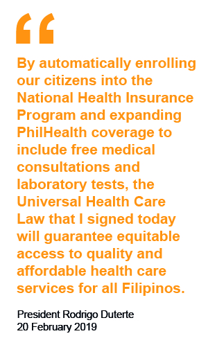 UHC Act in the Philippines: a new dawn for health care