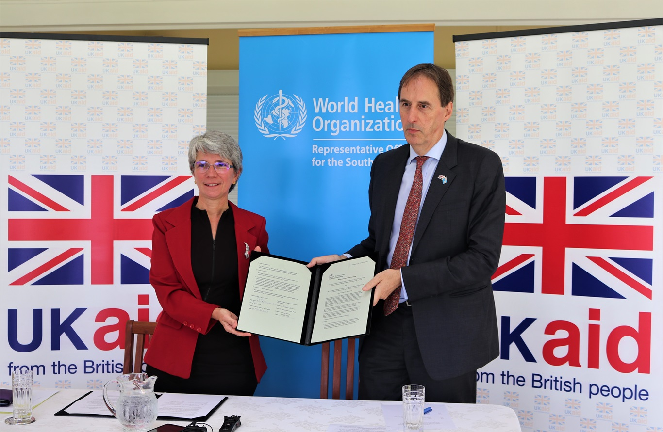 UK signs MoU with WHO, strengthening readiness and response to COVID-19 across the Pacific