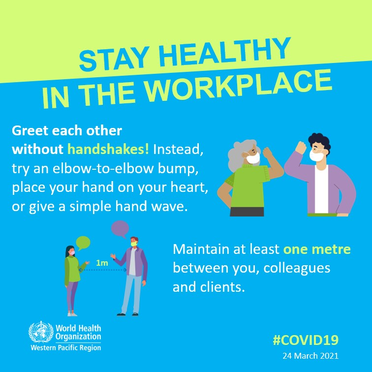 COVID-19 advice - workplace | WHO Western Pacific